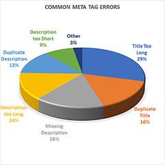 Chart of top seo meta errors.
