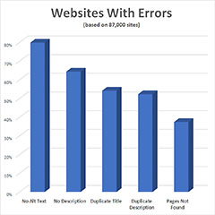 Chart of errors found on websites